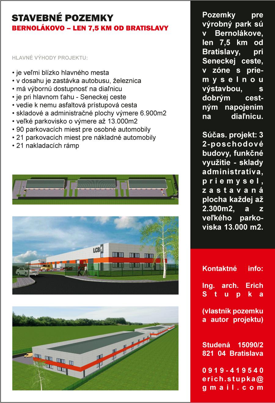 Základná obchodná ponuka predávaných pozemkov - Obr.1
