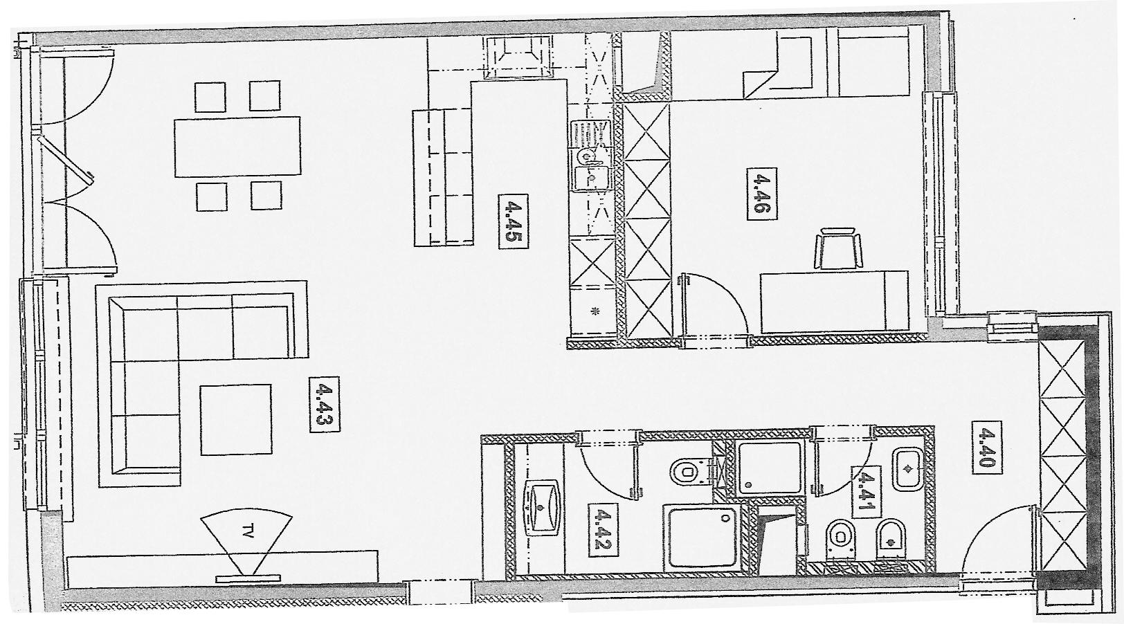 Plánovacia dokumentácia k bytu Rozadol - Obr.1