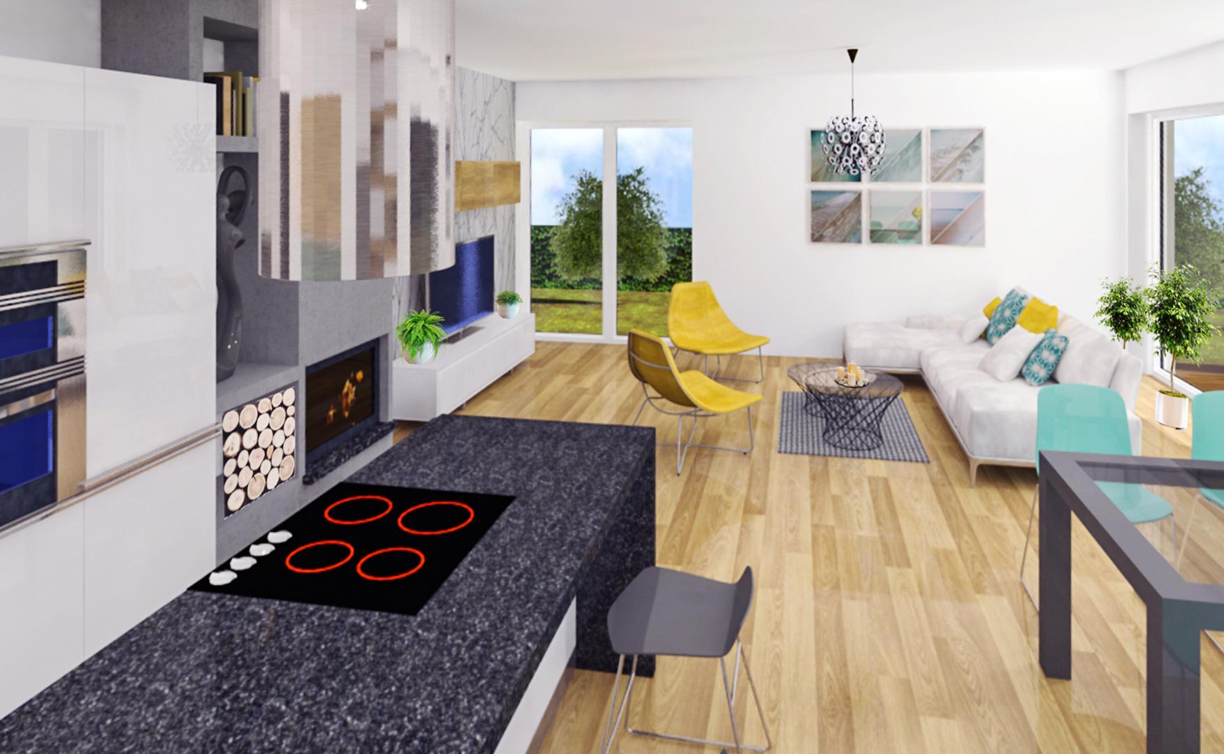 Vizualizácia interiéru rodinného domu